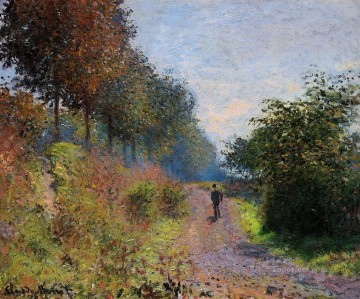 Claude Monet Painting - The Sheltered Path 1873 Claude Monet